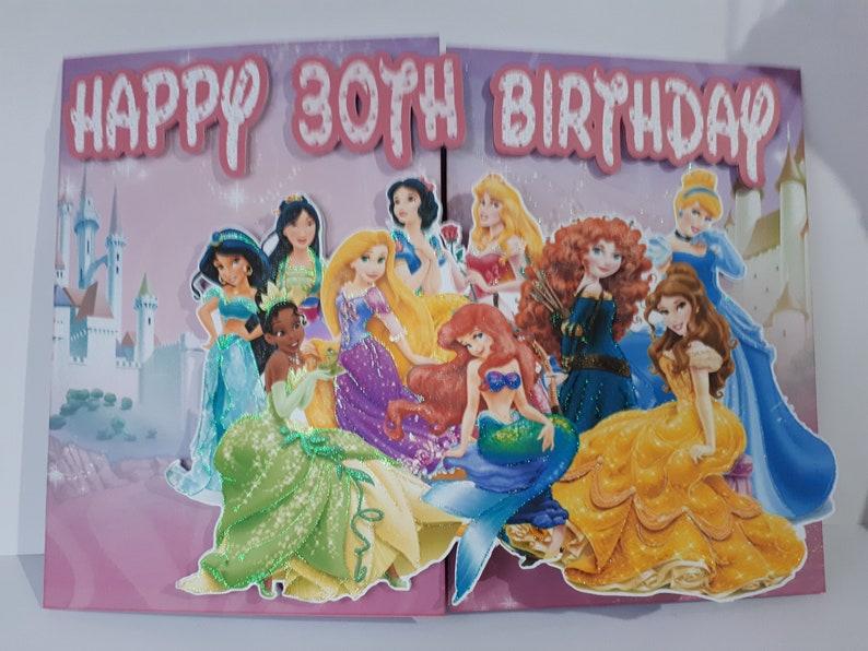 Disney Princess Birthday Card Large