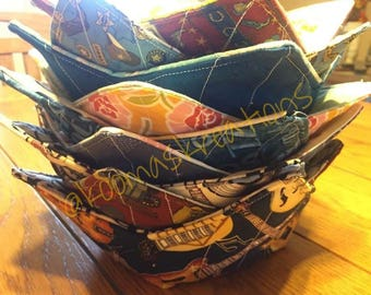 Microwave Bowl Cozy, Microwave Bowl Cozies, Reversible, Trivets, Hot Pads, Bowl Pot Holder, Bowl Shaped Pot Holder