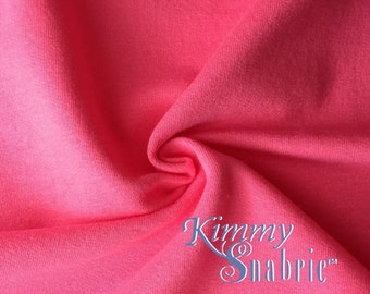 dcdae48e43 Dark Pink Stretch Cotton French Terry - French Terry Material