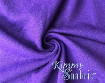 738953f63d Purple Stretch Cotton French Terry - French Terry Fabric
