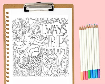 Adult Coloring Page Life Quotes Icecream Quotes Printable Etsy