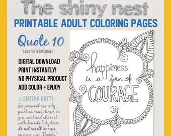 Adult Coloring Stronger Than You Can Think Printable Etsy