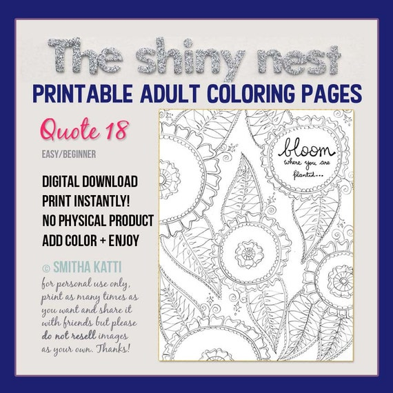 Mindful Coloring Pages Coloring Sheets Coloring Gifts Etsy