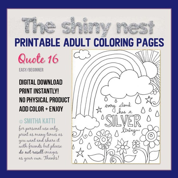 - Printable Coloring Pages Coloring Quotes Adult Colouring Etsy