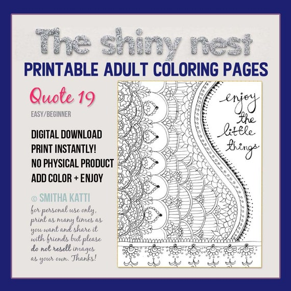Coloring Mindfulness Colouring Pages Colouring For Adults Adult Colouring Pages Inspirational Coloring Grown Up Coloring Quote 19