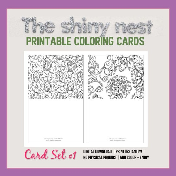 photo about Printable Blank Note Cards identify Coloring playing cards, printable notice playing cards, blank notecards, grownup coloring, mindfulness colouring, in depth sophisticated coloring