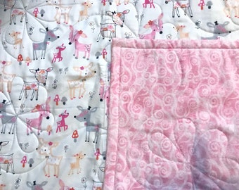 Doe a Deer Baby Quilt - Homemade - Free Shipping in Continental US!