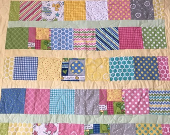 Flannel Baby Quilt - Homemade - Free Shipping in Continental US!