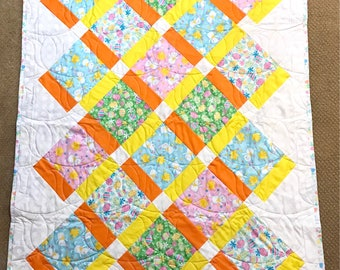 Happy Bunny's on Point Quilt — Homemade