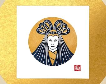 Moon Goddess Solo 6x6 Mini Print