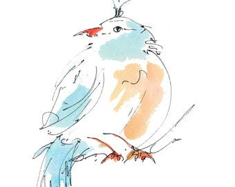 "BLUEBIRD..Clipart / Digital Download / Hi Resolution of Original Watercolor . 8""x10"" Great for a multitude of applications."