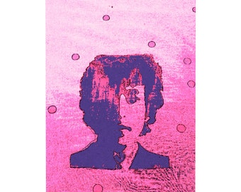 "BOB DYLAN SCREENPRINT 2..Clipart / Digital Download / Hi Resolution of Original Watercolor . 8""x10"" Great for a multitude of applications."