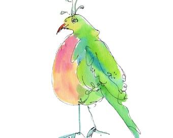"KOLA KOLA BIRD..Clipart / Digital Download / Hi Resolution of Original Watercolor . 8""x10"" Great for a multitude of applications."