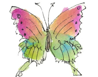 "AMAZON BUTTERFLY.Clipart / Digital Download / Hi Resolution of Original Watercolor . 8""x10"" Great for a multitude of applications."