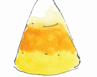"CANDY CORN...Clipart / Digital Download / 300 dpi/ hi resolution of Original Watercolor . 8""x10"" Great for any application."