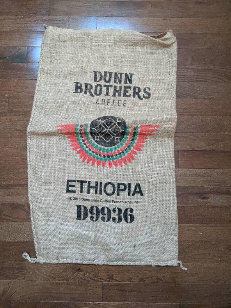 Ethiopia Burlap Coffee Bag  Dunn Bros Africa Gunny Sack  image 0