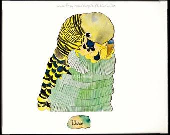 Animal Portrait * Watercolor * Linen * Charcoal * includes Frame! * Select a Hedgehog, Bird, Parakeet, Lizard, Exotic Pet