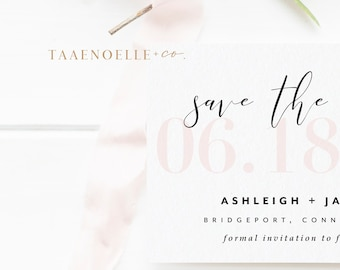 Modern Style Save the Date | Minimal Save the Date | Save the Dates | Modern Script | Elegant Wedding | Save the Date | SAMPLE