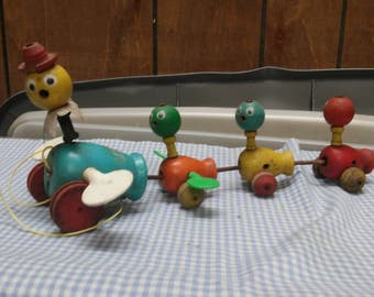 Fisher Price Gabby Goofies #777 Pull Toy 1963