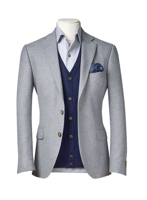 shopping rock-bottom price vivid and great in style Men's custom suit/ Full canvas/ Super 100s/ Grey/ Custom tailoring/  bespoke/men suit jacket/ men suit vest