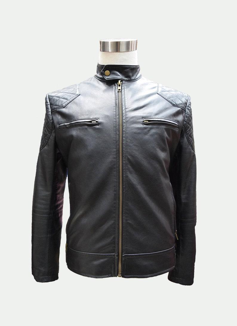 Custom Leather Jacket  Men's Leather Jacket  Motorcross image 0