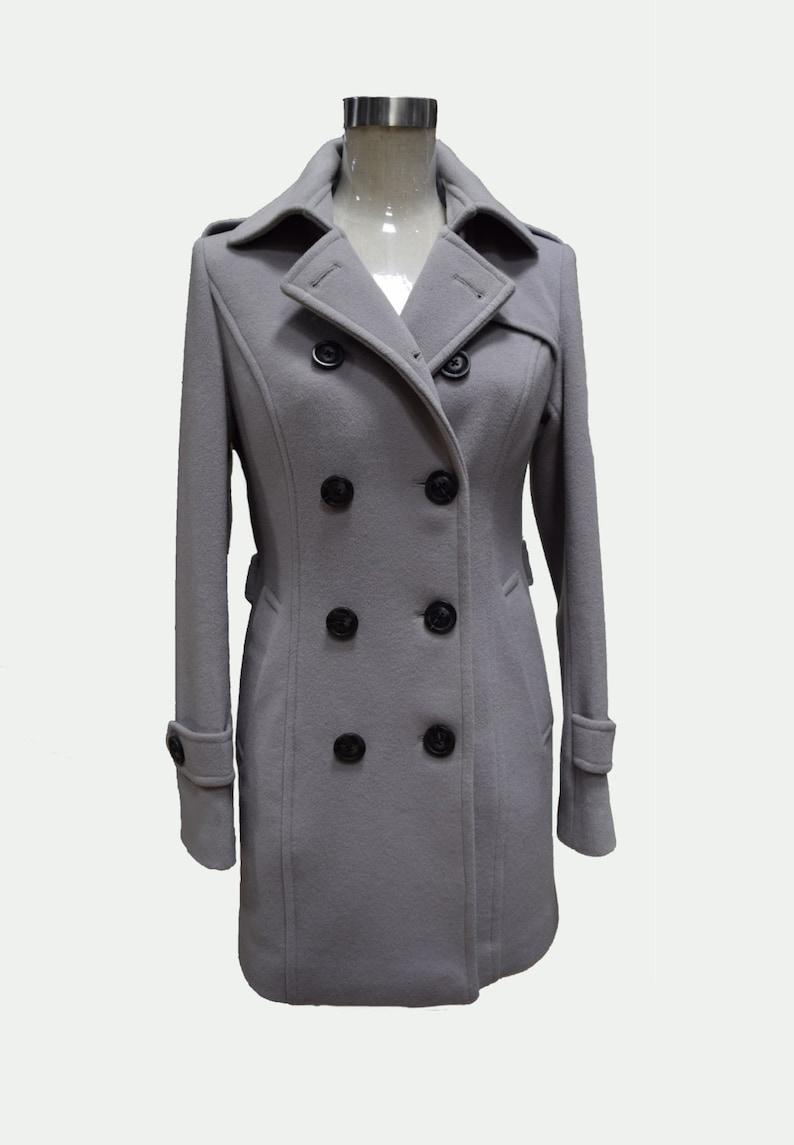 best service a01cb d9807 Benutzerdefinierte Damen Mantel, grau Mantel, Frau Mantel, Wollmantel,  Frau, Tailored Mantel, Custom Fell, Womans Gray Coat