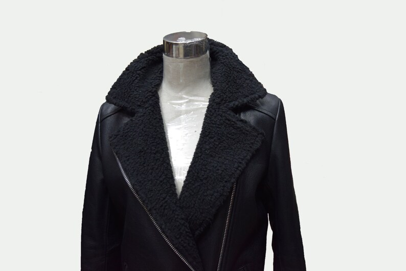Custom Leather Jacket Men S Leather Jacket Shearling Etsy