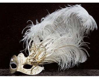 Venetian mask,Tabhata Mask,Original mask with feathers