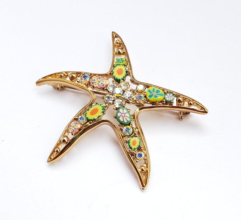 Colorful Starfish Brooch