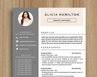 Creative Resume Template | CV Template | Cover Letter | For MS Word / IWork  |