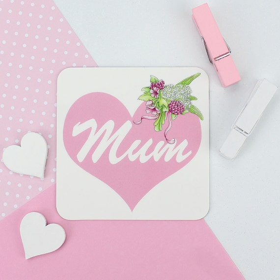 Mum Heart Magnet Mothers Day Gift For Mummy From