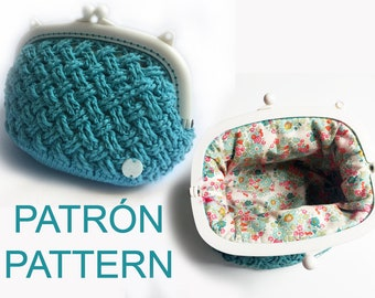 Instructions crochet coin purse and inside cover NUMBER 6