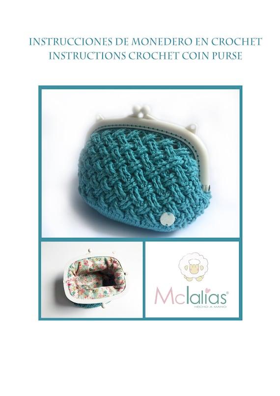Patrón de monedero a crochet y forro interior NÚMERO 6 | Etsy