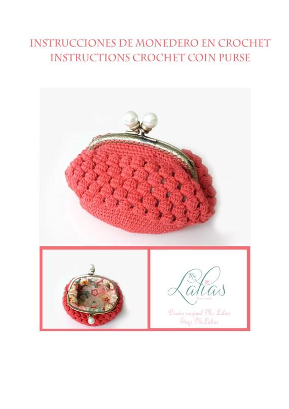 Patrón de monedero a crochet y forro interior NÚMERO 5 | Etsy