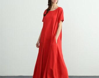 6242a5b93ceed Linen maxi dress | Etsy