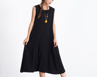 0a794fe9f0d 50% SALE 23#Plum Size-XXL Women's Loose fitting maxi dress oversize Maternity  dress cotton caftan linen Bridesmaid dress plus size A65