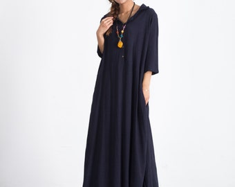 Oversize Short Sleeves Summer maxi Dresses Women's Loose cotton caftan linen kaftan plus size clothing large size dress with pockets A51