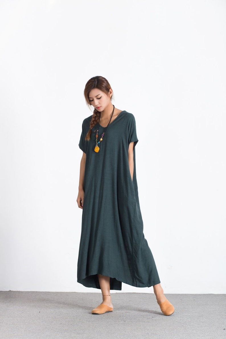 34eec68e6ad Women s linen maxi dress loose linen cotton kaftan