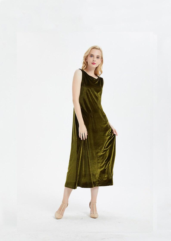 c07d625bb4d Damen samt Kleid ärmellos langes Kleid Brautjungfernkleid