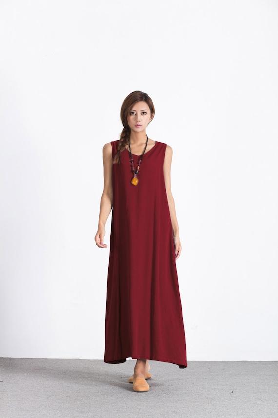 40309a921dc Women s Loose maxi dress oversize cotton caftan linen