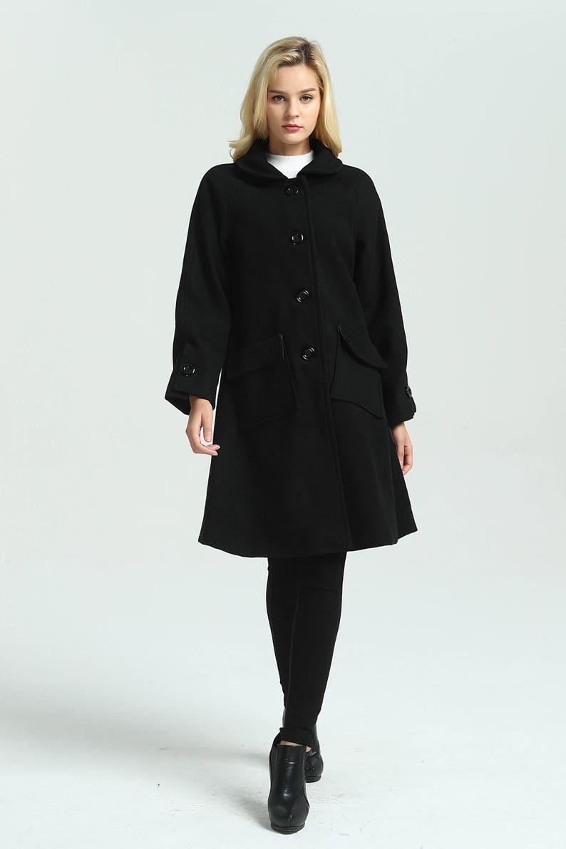 6cd390d5443 Women s loose wool jacket woolen coat long winter warm coat oversized  outwear coats large size coat plus size coat custom made ...