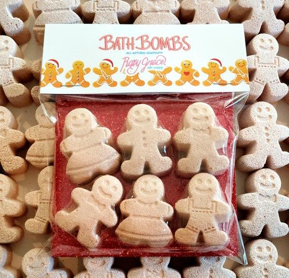 Gingerbread Man Bath BombsStocking StuffersBath Bomb Gift