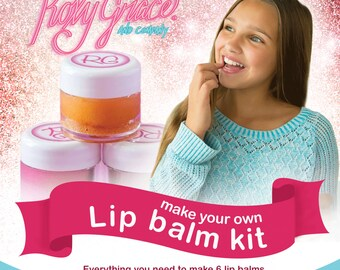 DIY Lip Balm kit -DIY Crafts-All Natural Lip Balm Kit New Flavors Just In! Pink Lemonade, Creamsicle, and Marshmallow! FREE gift wrap