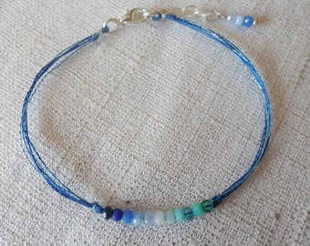 Color lagoon blue and green bracelet