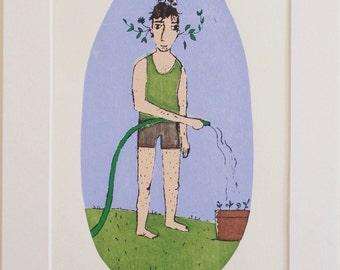 Plant boy - limited edition screen print