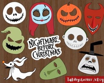 the nightmare before christmas photo booth props nightmare before christmas christmas photo props christmas photo booth printable
