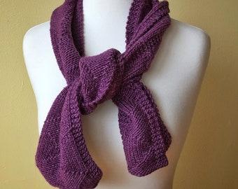 Alpaca & Silk Knit Scarf