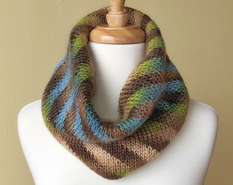 'Gaia' Hand-Knit Silk & Wool Cowl (Christopher Knits Original)