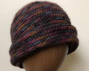 Mohair/Wool Crochet Cap