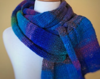 Pure Wool Knit Scarf